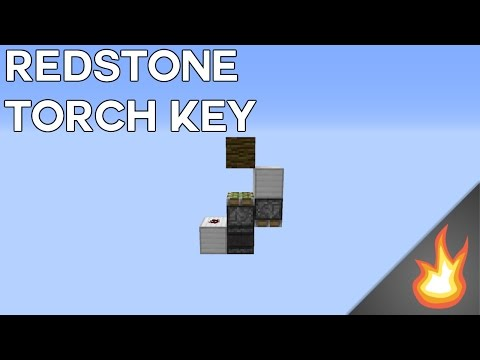 SUPER FAST AND SMALLEST REDSTONE TORCH KEY | Minecraft Tutorial