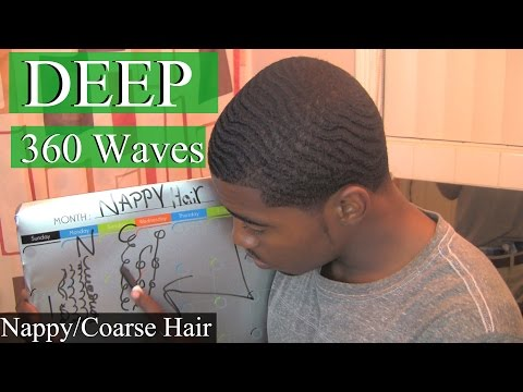 How To Get Deep 360 Waves with Nappy Hair