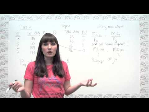 Microeconomics Practice Problem - Utility Maximization Using Marginal Utility and Prices