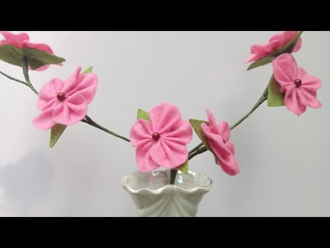 DIY Flowers for Vase   Felt Blooming Branches   HandiWorks #50