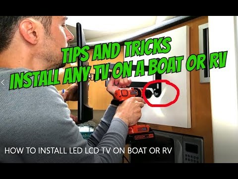 HOW TO INSTALL ANY LED LCD TV ON A BOAT OR RV, no 12v TV needed