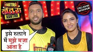 Punit Pathak Masti With Jasmin Bhasin At Khatra Khatra Khatra 100 Episode Completion | EXCLUSIVE