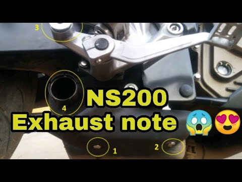 A funny way to change your NS200 exhaust note| easy process to change your NS200 exhaust Sound|| DIY
