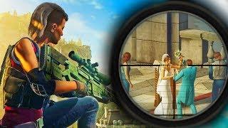 CRASHING A WEDDING! - Hitman Sniper Mode