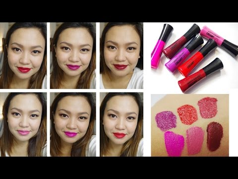 City Color Creamy Lip Stain Review and Swatches | tagalog