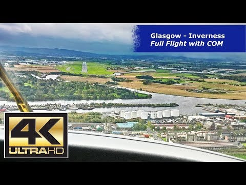 Vol Glasgow Inverness - Kingair Cockpit Cam - IFR - Avec ATC - UHD 4K