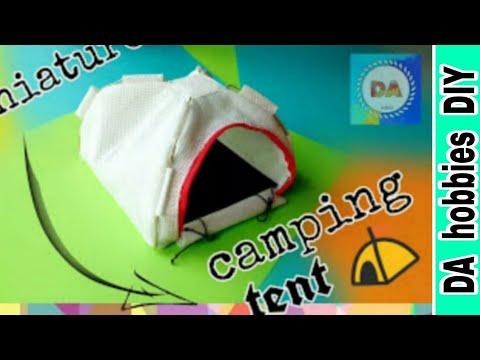 Miniature camping tent ⛺ / dollhouse for kids || DA hobbies-diy