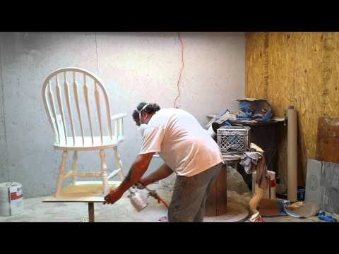 painting oak chairs white  at timeless arts refinishing