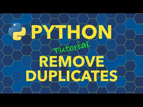 Python Remove Duplicates