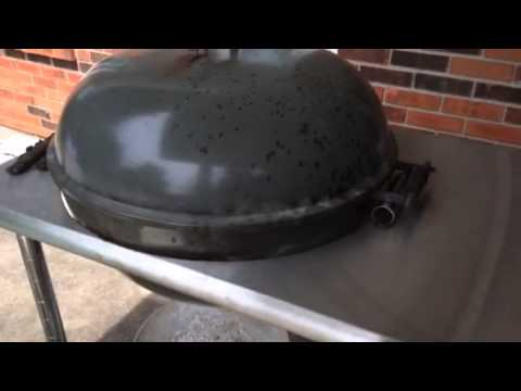 Weber kettle cart with stok grill