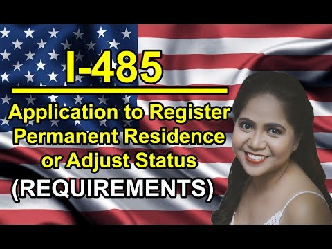 AOS: Form I-485 Adjustment Of Status Cover Letter! List of Requirements! (For Green Card)