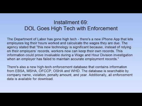 DOL Goes High Tech with Enforcement