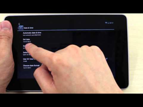 How to set the date and time on ASUS Google Nexus 7