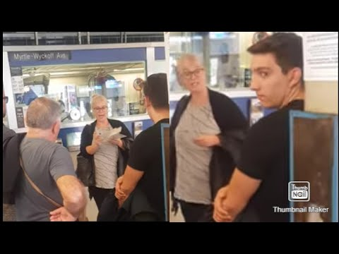 White Lady Goes Off on NYC MTA Subway Booth Clerk for not checking her metro card
