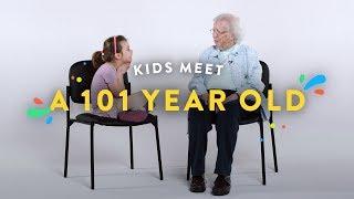 Kids Meet a 101 Year Old | Kids Meet | HiHo Kids