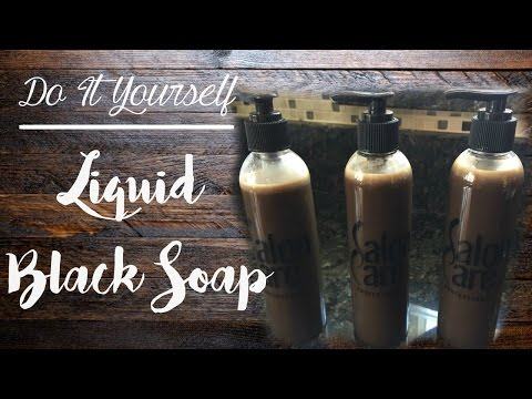 D.I.Y LIQUID BLACK SOAP FOR NATURAL HAIR ▸ TheBeautifullyJuJu