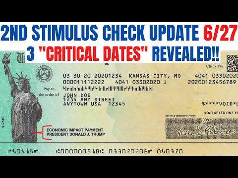 Second Stimulus Check| 3 CRITICAL Dates REVEALED