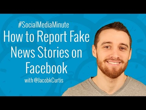 [HD] How to Report Fake News Feed Stories and Hoaxes on Facebook - #SocialMediaMinute