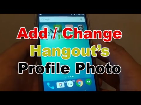 Google Nexus 5: How to Add / Change Hangout Text Messaging Profile Picture
