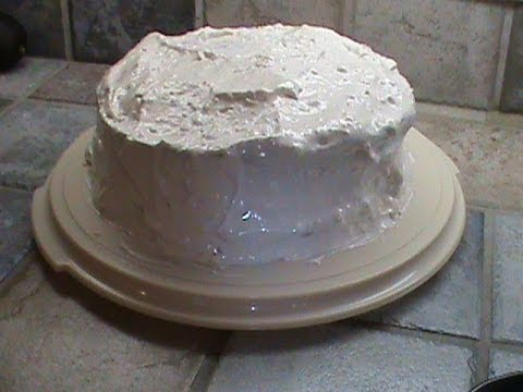 1950's Devil's Food Cake with Egg White Icing