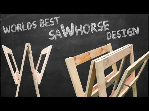 New Sawhorse Design Concept - My Idea - Unique?