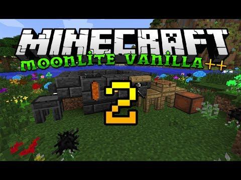 Minecraft Moonlite Vanilla ++   EP 02   Base & Tinker's Construct