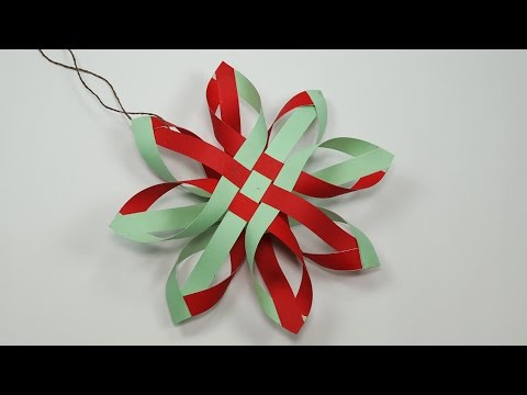Paper Snowflakes - How to Make Paper Snowflakes for DIY Christmas Decorations