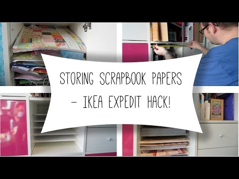 Storing scrapbook papers - Ikea Expedit Hack!