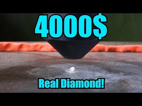 Crushing Real Diamond with Hydraulic Press