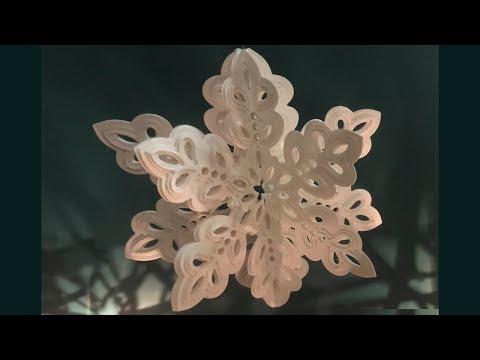 3D Hanging Paper Snowflakes DIY Tutorial