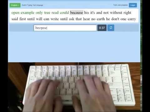 Typing Fast on Dvorak (150 WPM)