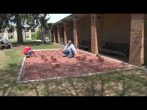 Brick Patio Installation Time Lapse