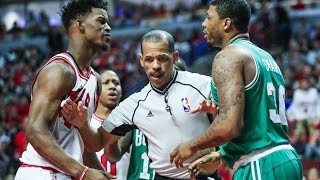 Jimmy Butler and Marcus Smart FIGHT Breaks Out Between Bulls and Celtics
