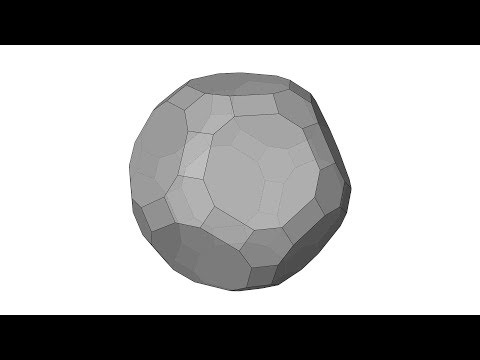 Architectural Geometry Exercise: Truncated Icosidodecahedron