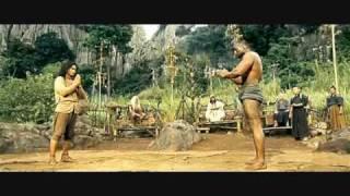Ong Bak 2 -- fight against trio.