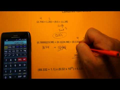 Advanced Significant Figure Calculations (Combined Operations)
