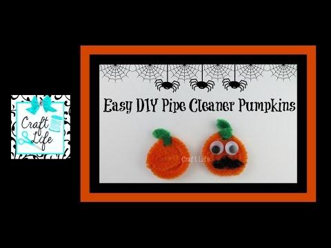 Craft Life ~ Easy DIY Pipe Cleaner Pumpkin ~ Earrings & Pencil Topper Halloween Tutorial