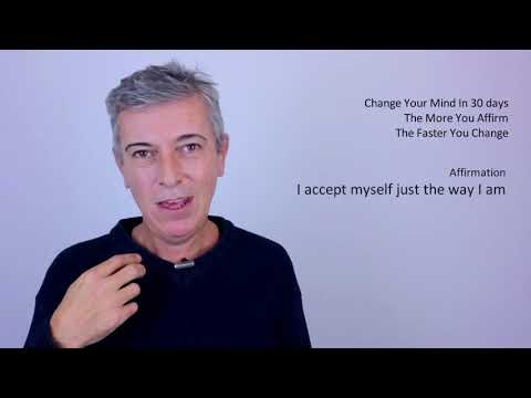 I accept myself just the way I am (EFT Tapping)