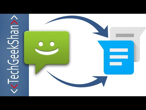 Replace Android Messages with Google Messenger App