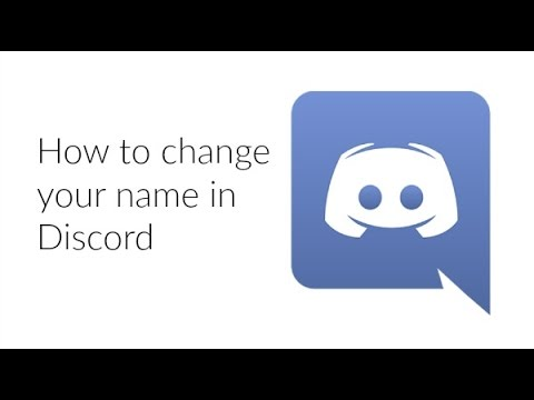 How to change your name in Discord 2016