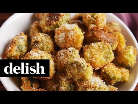 Parmesan Crusted Brussels Sprouts | Delish