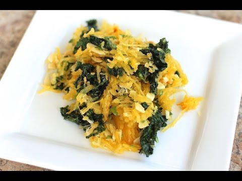 Spaghetti Squash With Kale - Delicious And Healthy by Rockin Robin