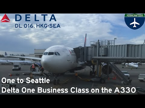 One to Seattle - Delta One Business Class on the A330 (DL016, HKG-SEA)
