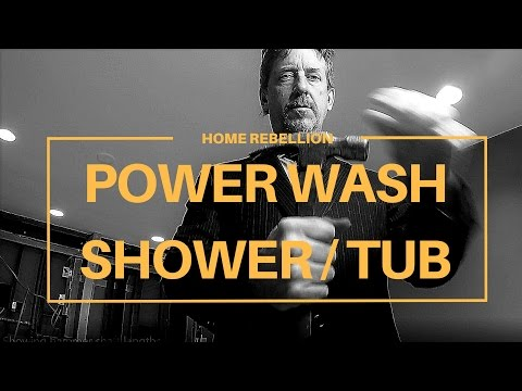 How to Power Wash Your Shower or Bathtub Surround