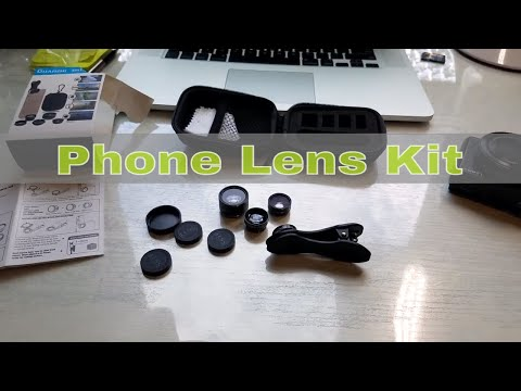 Cell Phone Camera Lens Kit - 5 Lenses - Wide Macro Fish Eye Zoom CPL