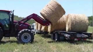 2011 Duramax Hauls Round Hay Bales