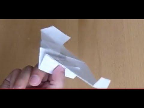 The best stunt paper airplane: Sabertooth!