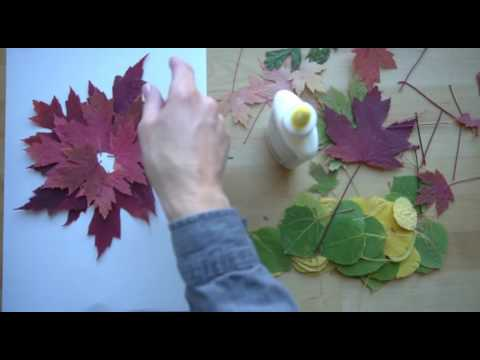 How to make a leaf collage