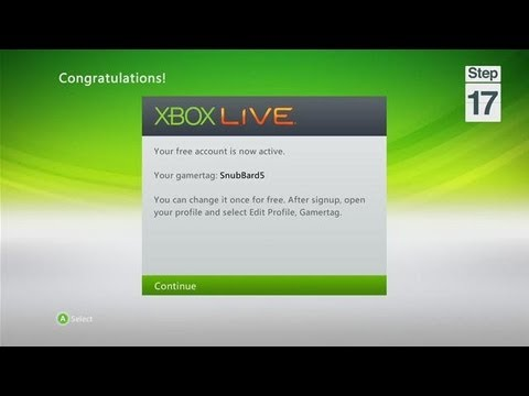 Signing Up and Connecting to Xbox Live