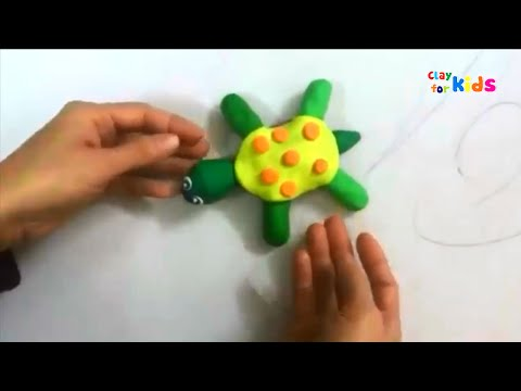 Clay for kids | How to make clay sea turtle easy tutorial | Play doh sea animals | Art for kids